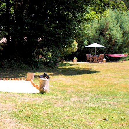 Boules pitch near the chalet